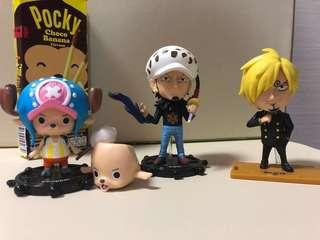 7-11 海賊王公仔 Chopper/ Law/ Sanji figure