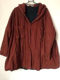 🚚 仿舊內刷毛保暖外套