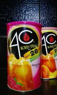 4c raspberry iced tea 4 lb or 1.99 kg makes 28 quartz