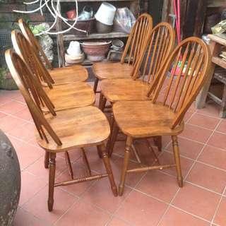 溫莎木椅六張