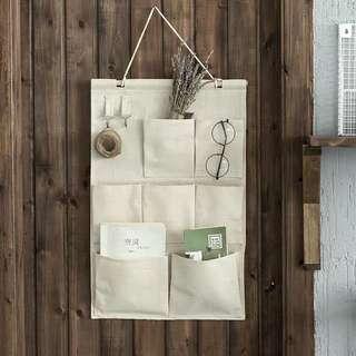 🚚 Mirayen Ramie Fabric Wall Hanging Organiser Storage Pockets