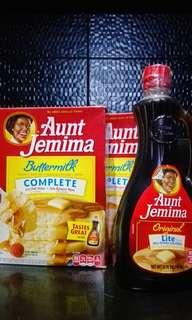 Aunt jemima bundle two pancake mix 2 lb and syrup 710 ml