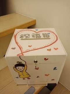 🚚 募款箱、投票箱、抽獎箱、婚禮祝福箱(有鎖)