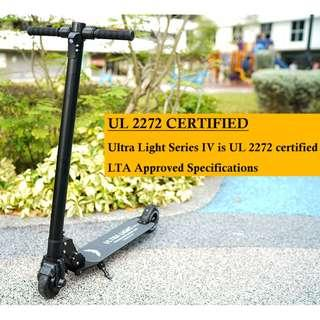Ultra Light Series IV UL2272 Electric Scooter Escooter