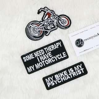🚚 Iron On Patch | Motorcycle, Rider, Bike