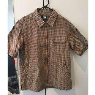 Helly Hansen zip up shirt