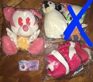 Disney mickey($80) mo仔($100) 企鵝($30)