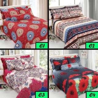 Cadar Patchwork 6 In 1, 4 In 1 & 3 In 1 Queen (Ready Stok)