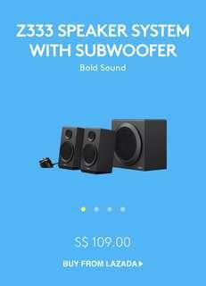 Logitech Z333 Computer Speaker System with Subwoofer