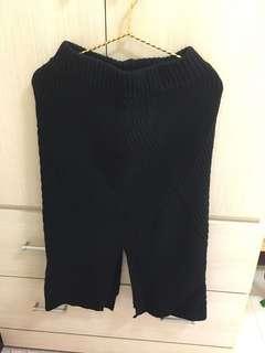 針織黑色裙