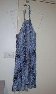 'Factorie' Halter Mini Dress- low back