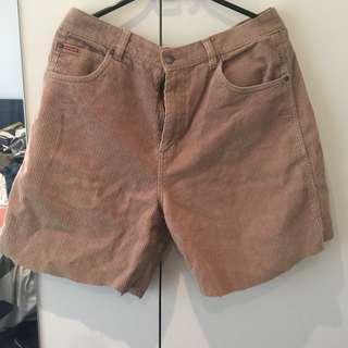 Vintage quicksilver cord shorts