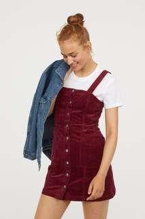 H&M Corduroy Bib Overall Dress