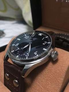 全新44mm 大飛 二戰 飛行員 復古 機械錶 手動上鏈 PILOT'S WATCHES