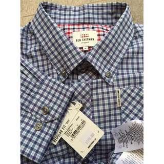 Ben Sherman House Check Gingham LS Shirt - Pigment Blue