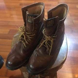 長皮靴棕色us12