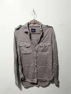 Oversized Button Down [Muted Green]