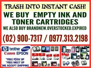 HIGHEST PRICE BUYER OF EMPTY INK AND TONER CARTRIDFES