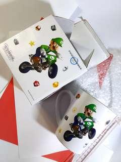 Mariokart Mario white mug saint honore cake shop Ltd聖安娜餅屋孖寶兄弟白色陶瓷水杯子