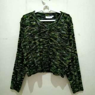 Crop Sweater Army