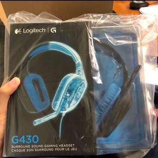 全新 電競耳機 Logitech g430 有線耳機