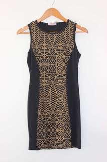 Gold Aztec dress
