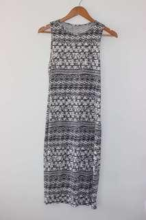 Aztec body con dress