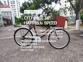 "🚚 City Bike 24"" HARRIS 6 Speed"