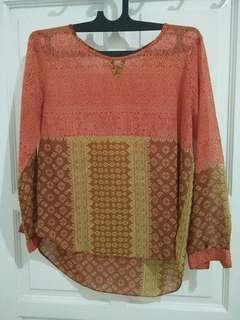Atasan blouse orange blus