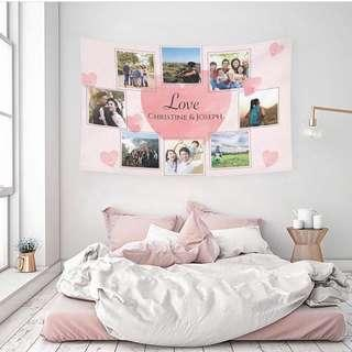 照片掛布訂製 Photo grid customize tapestry