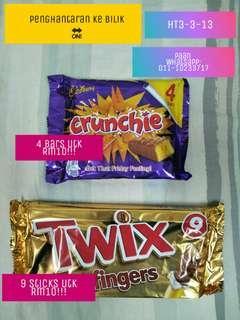 Twix or Crunchie Cadbury