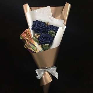 Graduation Ribbon Rose Bouquet