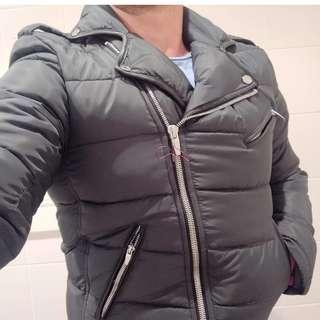 Zara Biker Style Puffer Jacket - Size S