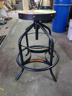 Swivel vintage stool