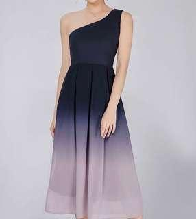 🔥 BNWT $25 Ombré toga midi dress Navy/pink