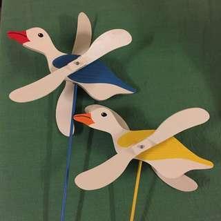 全新🌿療癒盆栽裝飾-小白鳥