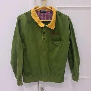 🚚 復古綠polo衫+森林系圍巾(近全新)