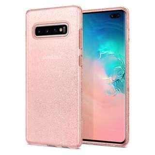 •BN• Spigen Liquid Crystal Glitter Galaxy S10+ Rose Quartz