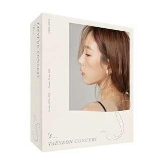 Taeyeon 's... Concert Kihno Video Kit (Regular Edition)
