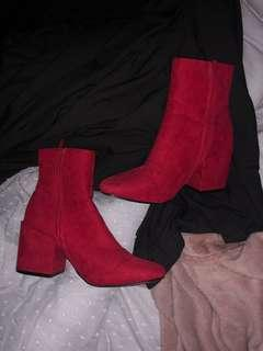 Rubi red boots