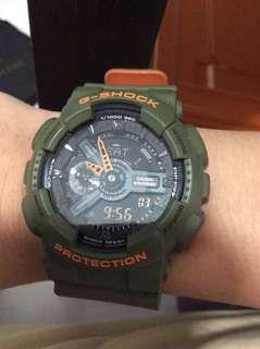 🚚 G-shock Navy green Neon orange