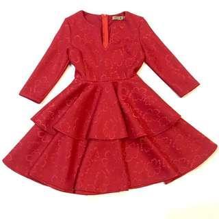 Premium Quality Layer Red Dinner Dress