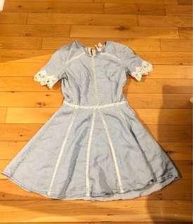 H&M women's chambray dress