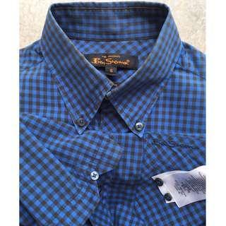 Ben Sherman Signature Mod Fit Gingham SS Shirt - Blue