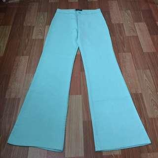 PRELOVED LIKE NEW Worn Once for an event! Soft Turquoise Ameena Palazo Palazzo Boot Cut
