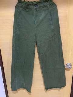 🚚 墨綠色寬褲