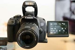 Rare use Canon EOS 700D + 18-55mm STM