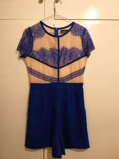 Size 10 playsuit blue lace #swapAU