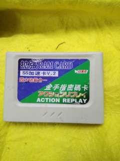 Saturn 四合一  金手指 memory card