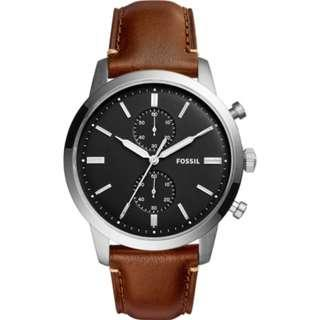 🚚 [CHEAPEST PRICE] Fossil FS5280 Townsman Chronograph Brown Leather Men's Watch
